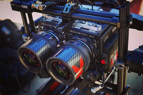 Drone-capable, dual Red Camera, 3D filming rig from Wild Rabbit Aerialvia Instagram