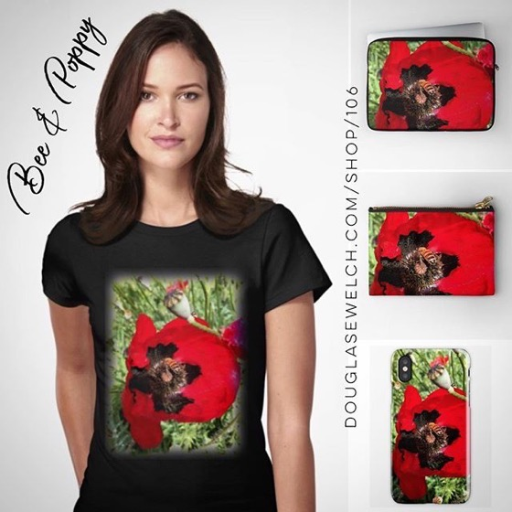 Nature Lover Bee & Poppy Tees, iPhone Cases, Bags, and Much More!