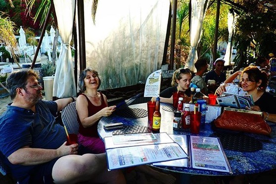 Douglas, Rosanne, Lexi and Linda at Paradise Cove via My Instagram