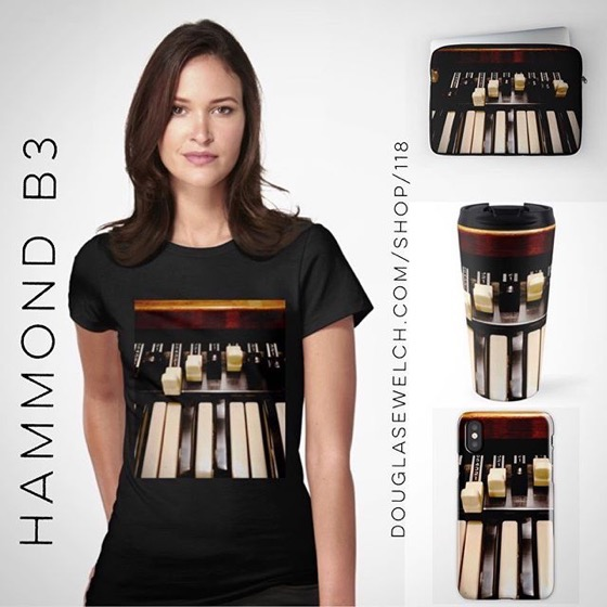 Get Your Groove On with these Hammond B3 Tees, Totes, iPhone Cases, Laptop Sleeves and Much More!