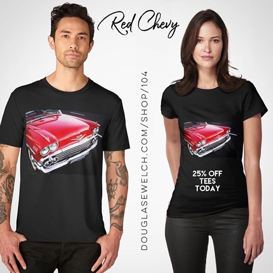 25% OFF Tees Today! Get These Red Chevy Tees On-Sale Today. Also available on Totes, Bags, Scarves, and Much More!