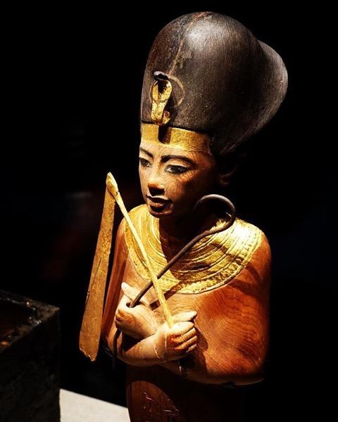 Statue – King Tut: Treasures of the Golden Pharaoh via Instagram
