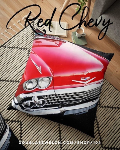 Get your home revving with these Red Chevy Floor Pillows and Much More!