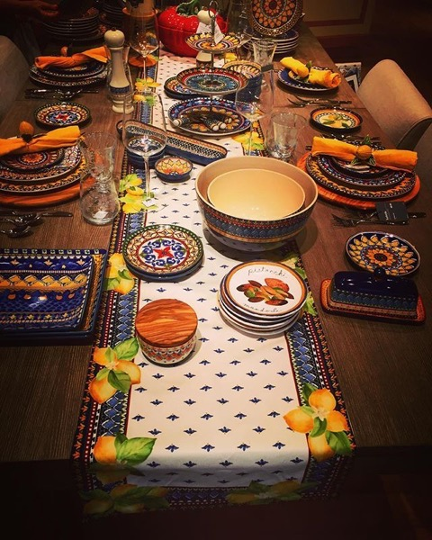 Some lovely (and authentic) Sicilian Table styling via My Instagram