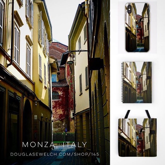 Stroll The Streets of Monza with these Journals, iPhone Cases, Totes and Much More!