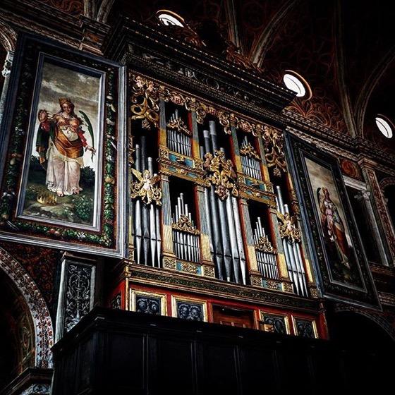 Beautiful Pipe Organ, San Maurizio al Monastero Maggiore via Instagram