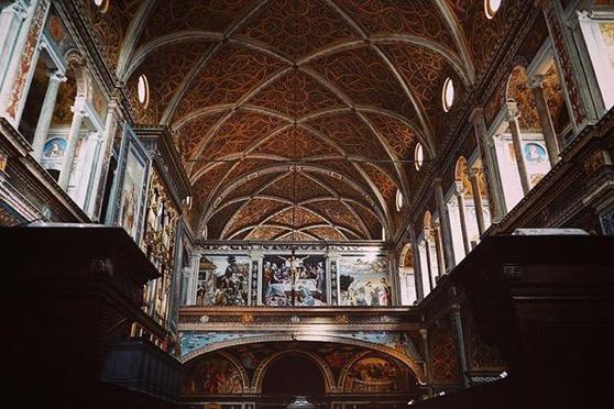 Church Architecture, Chiesa di San Maurizio al Monastero Maggiorevia Instagram