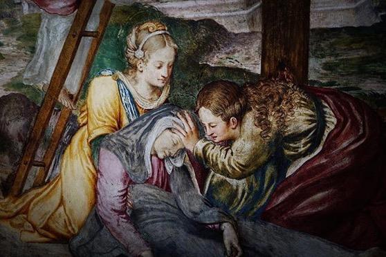 Painting Detail, San Maurizio al Monastero via Instagram