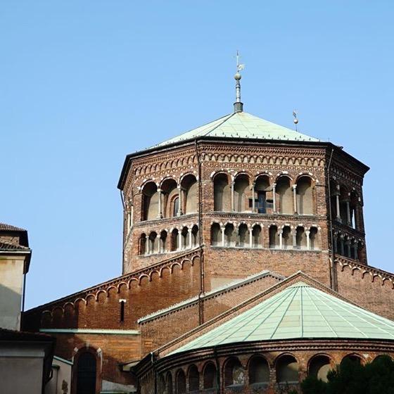 The Octagonal Dome of Basilica di Sant'Ambrogio via Instagram