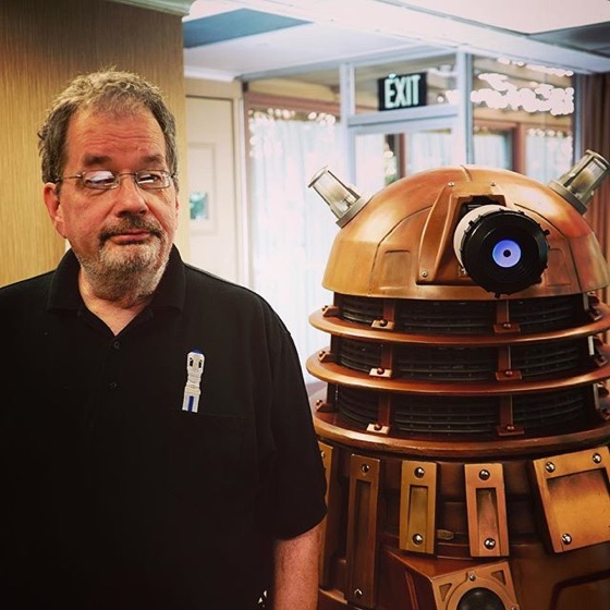 Steve Roberts, Dalek Builder Extraordinaire at San Diego Who Con 2018 via Instagram