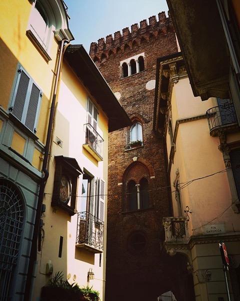 Via Lambro Medieval Tower, Monza, Italy via Instagram