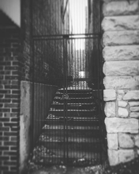 Behind the locked gate via Instagram
