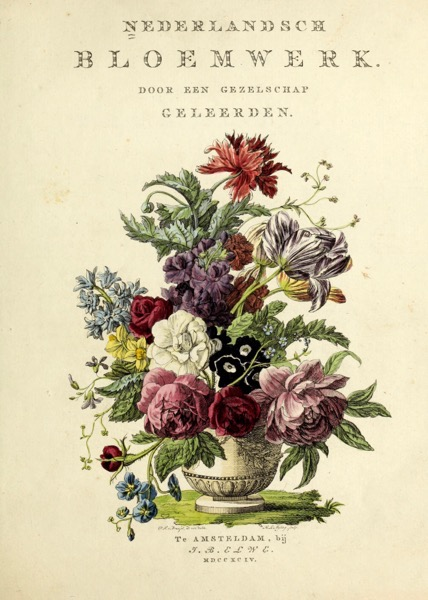 Nederlandsch bloemwerk (Dutch Flower Arrangements) from 1794 – Tops, Prints, iPhone Cases, Pillows, Totes, And Much More!