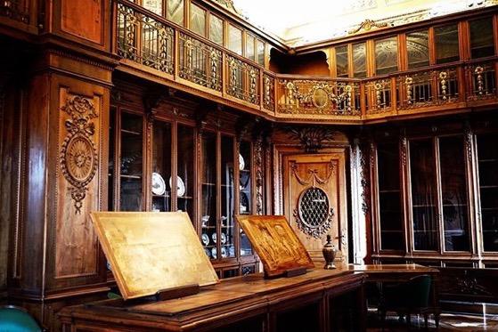 Library, Interior, Villa Reale, Monza, Italy via Instagram