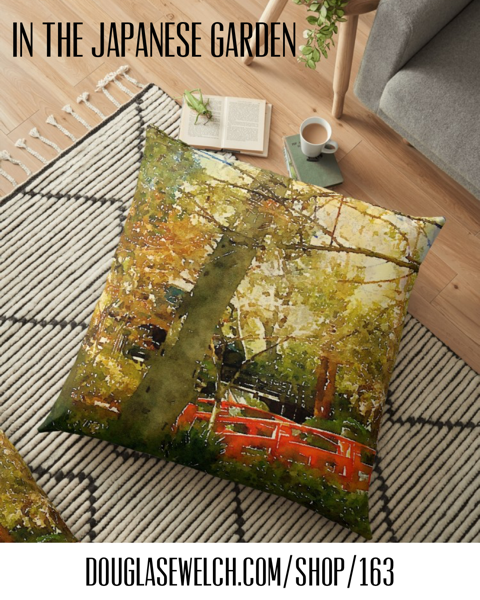 Join Me In The Japanese Garden with these Pillows, Tees, Tops, iPhone Cases, and Much More!