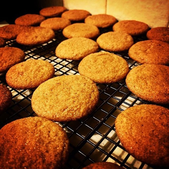 Soft and Chewy Ginger Cookies for our annual party via Instagram