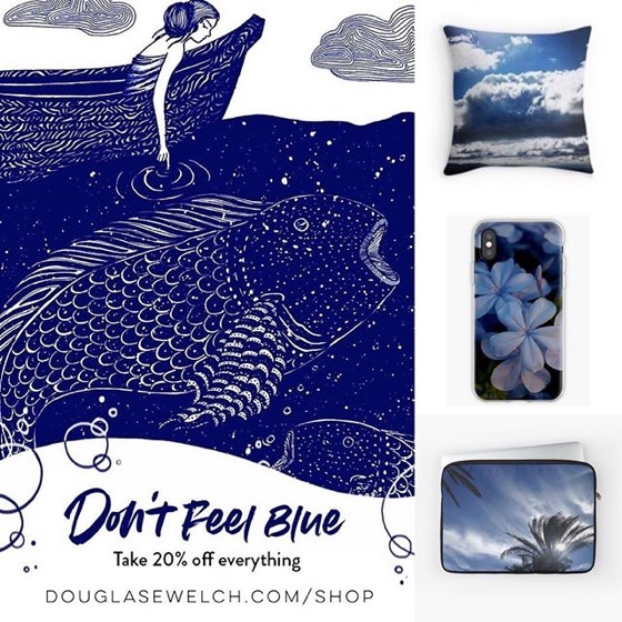 Don't Feel Blue! Take 20% of Everything Today  Including These Laptop Sleeves, Pillows, IPhone Cases and Much more!