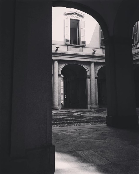 Into the courtyard, Museo del Risorgimento, Milano, Italia via Instagram