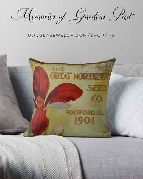 New Products! – Enjoy Memories of Gardens Past with these Pillow, Totes, iPhone Cases and Much more!