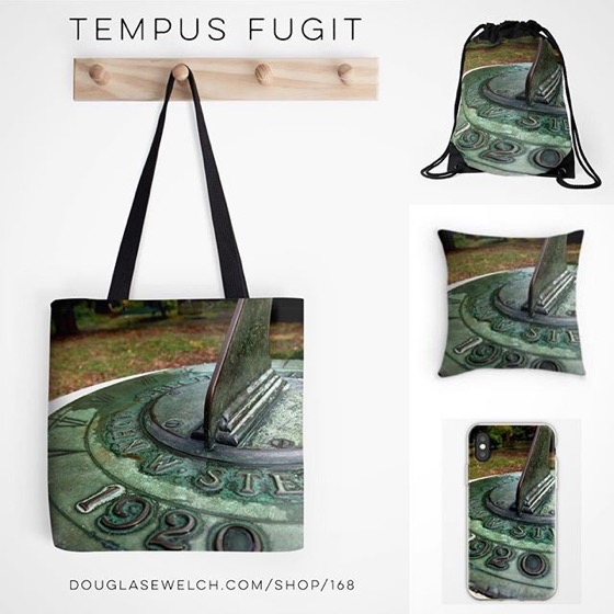 Don't Let Time Pass You By! Get these Tempus Fugit Totes, Pillows, iPhone Cases, and Much More!