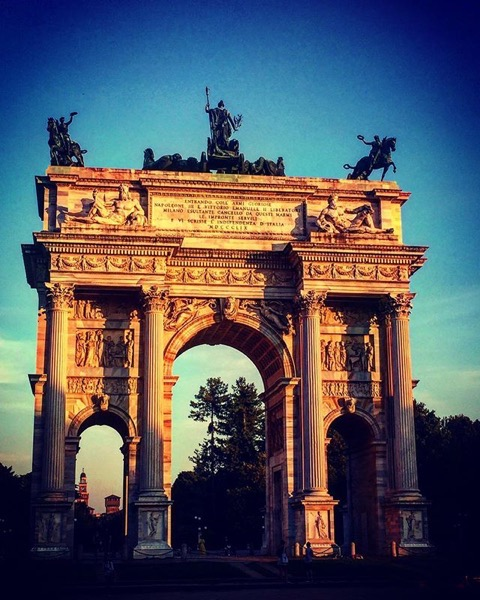 Arco della Pace at Sunset, Milano Italia