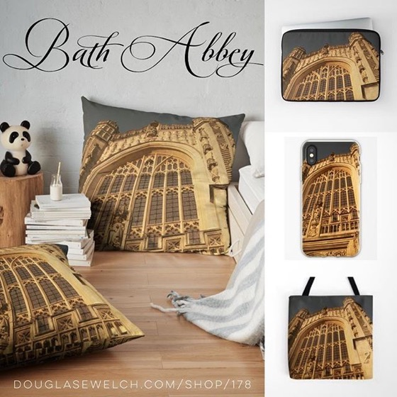 Enjoy The Majestic Architecture of Bath Abbey With This Amazing View On Pillows, iPhone Cases, Totes and more! [For Sale]