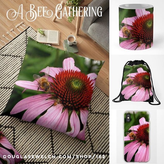 Join A Bee Gathering On These Pillows, Mugs, iPhone Cases And More! [For Sale]