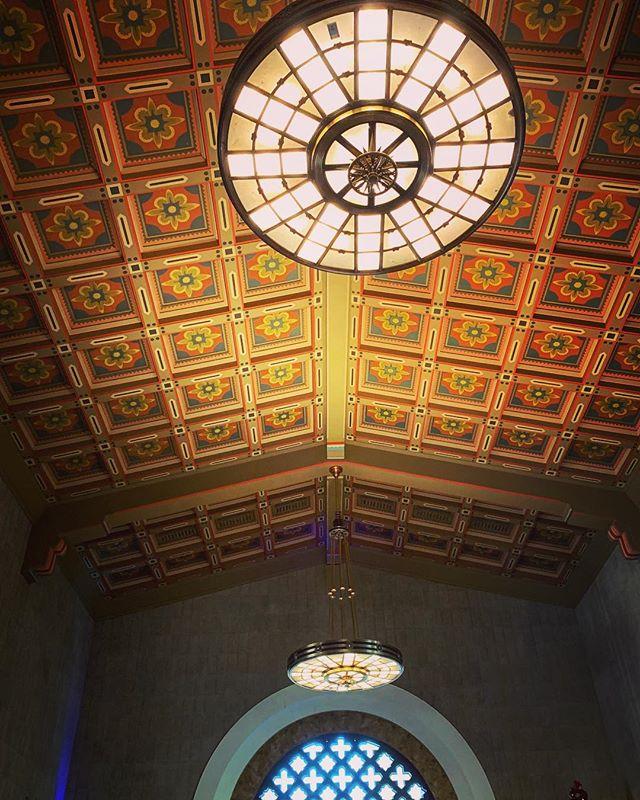 My Los Angeles 77 – A Soaring Ceiling, Union Station via Instagram
