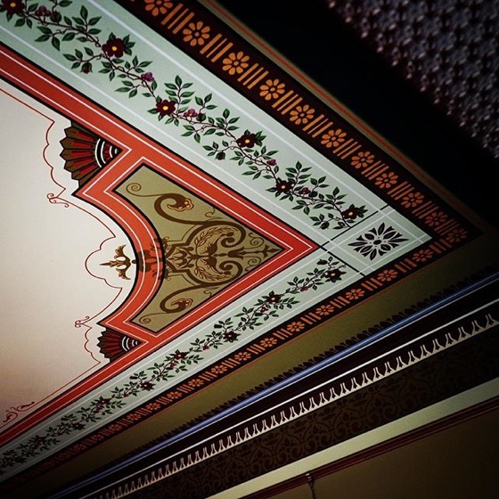 Painted Ceiling Detail, Byers-Evans House, Denver, Colorado