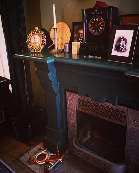Fireplace and Mantle, Parlor, Byers-Evans House, Denver, Colorado
