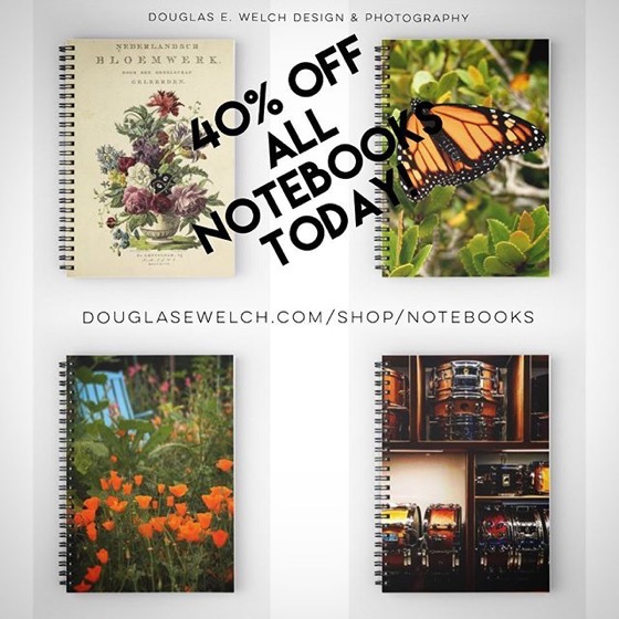 40% OFF All Notebooks Today From Douglas E. Welch Design and Photography [For Sale]