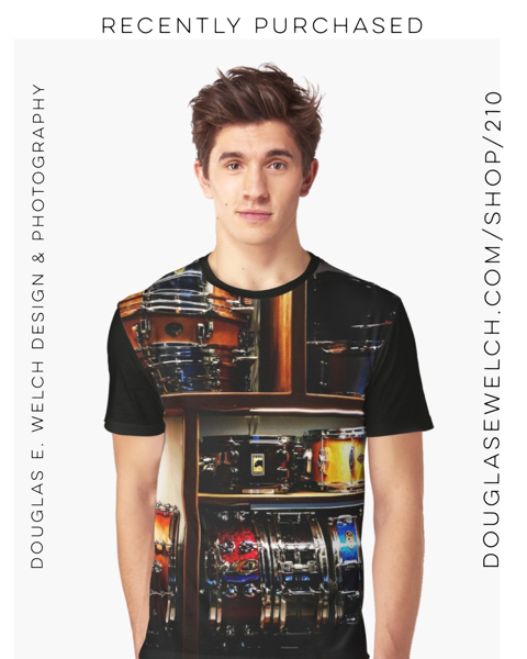 Recently Purchased – Percussion Takes The Stage with these Snare Drum Graphic Tees and Much More!