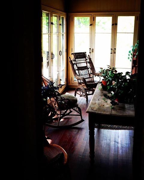 Porch, Byers-Evans House, Denver, Colorado via Instagram