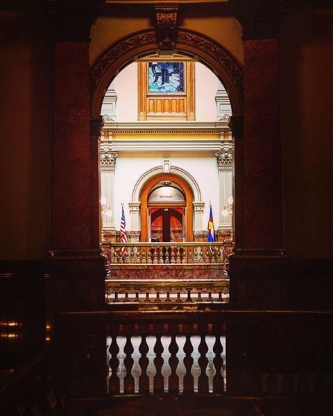 Architectural Detail, Colorado State Capitol, Denver via Instagram