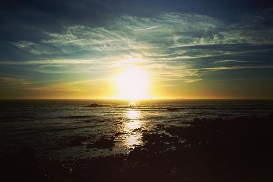 Sunset Over The The Atlantic Ocean, Porto, Portugal via Instagram