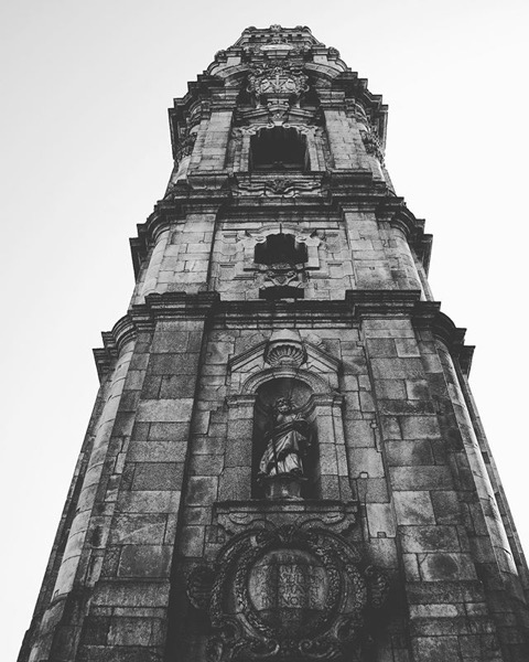 Clérigos Tower, Porto, Portugal via Instagram