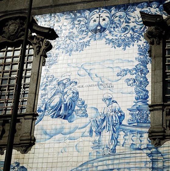 Tile Mural Detail, Igreja do Carmo, Porto, Portugal via Instagram