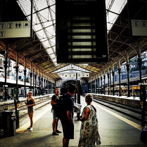 Waiting on a train via Instagram