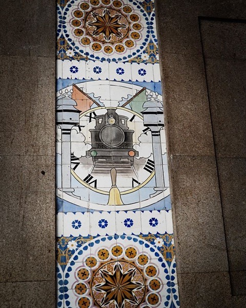 Tile Murals at Porto, Portugal Train Station via Instagram