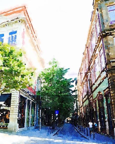A shady street in Porto via Instagram