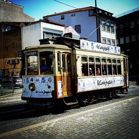 Historic Tram, Porto, Portugal via Instagram
