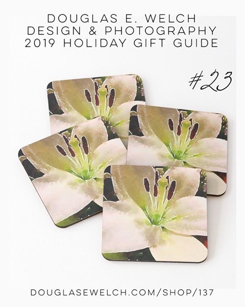 Holiday Gift Guide 2019 23: Lily In Watercolor Coasters and More! [For Sale]