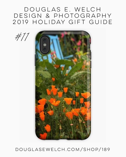 Holiday Gift Guide 2019 11: California Poppies In The Garden iPhone Cases and More! [For Sale]