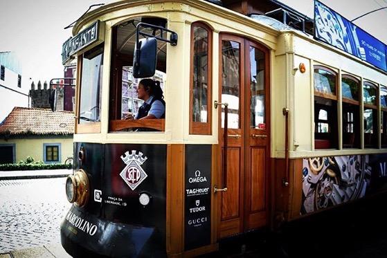 Vintage Tram Along Duro River, Porto, Portugal via Instagram