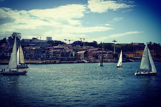 Sailboats On The Douro River, Porto, Portugal via Instagram