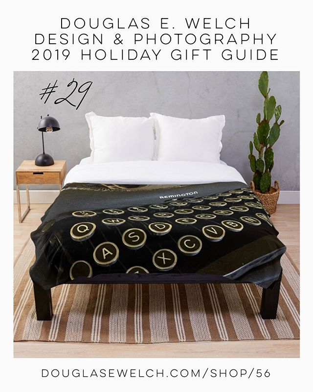 Holiday Gift Guide 2019 29: Writing It Down! Throw blankets and More! [For Sale]