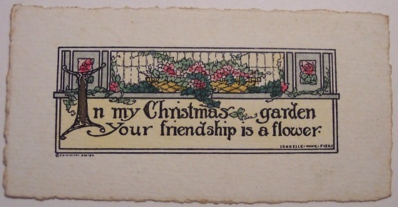 Christmas Past – 18 in a series – A Vintage Christmas Card via Dave on Flickr