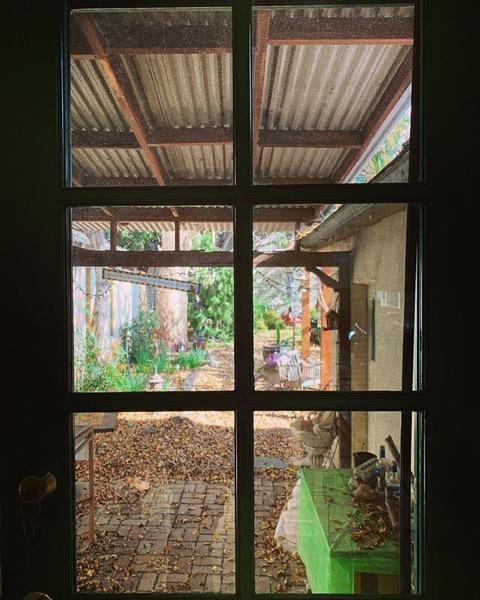 Out the back door via Instagram