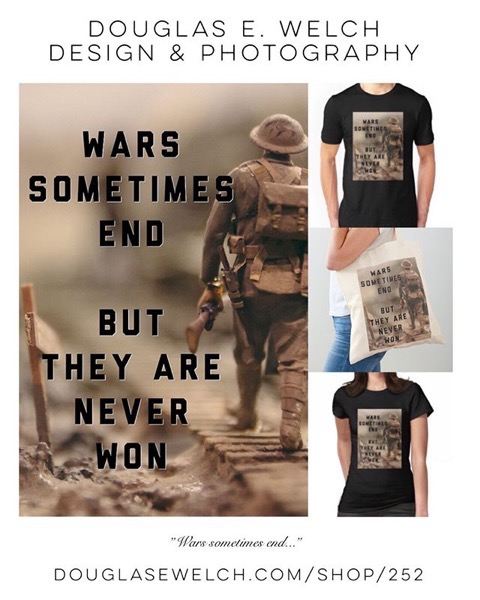 Take A Stand Against War with These Tops From Douglas E. Welch Design and Photography [For Sale]