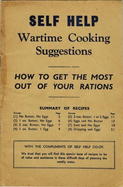 Historical Cooking Books – 49 in a series – Self Help Wartime Cooking Suggestions